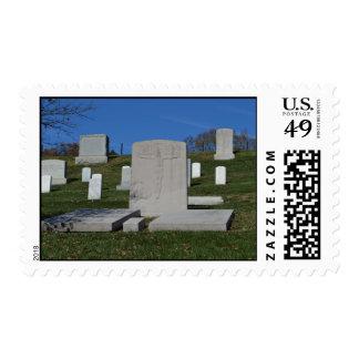 Christian Headstone Arlington Cemetery Postage