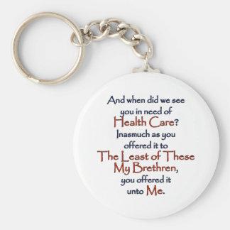 Christian Health Care Basic Round Button Keychain