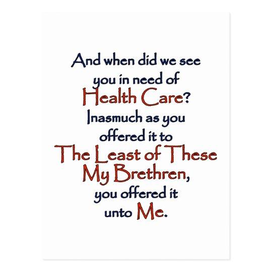 Christian Health Care Postcard