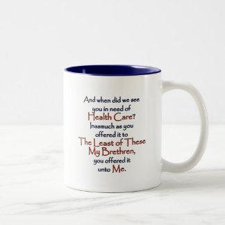 Christian Health Care Two-Tone Coffee Mug