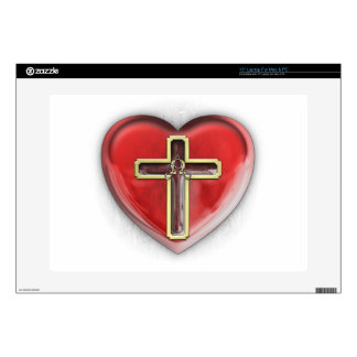 """Christian Heart 15"""" Laptop Skins"""