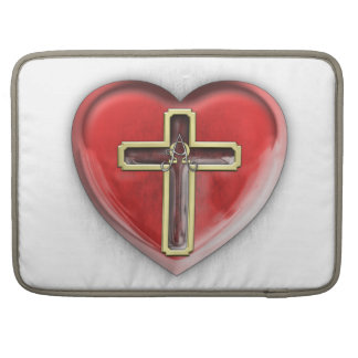 Christian Heart Sleeve For MacBook Pro