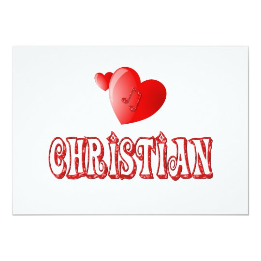 Christian Hearts Card