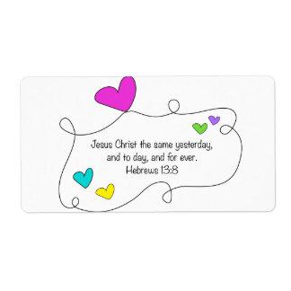 Christian Hebrews 13:8 Jesus same forever Label