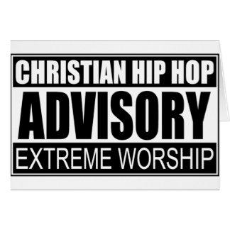 Christian Hip Hop Advisory... Card