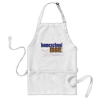 Christian homeschool apron- Homeschool Mom Adult Apron