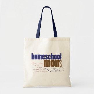 Christian homeschool tote: Homeschool Mom Budget Tote Bag