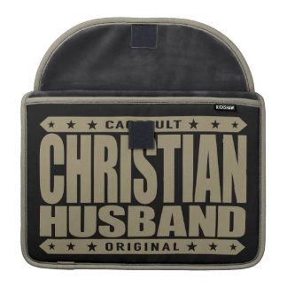 CHRISTIAN HUSBAND - Faithfully Love God & My Wife Sleeve For MacBook Pro