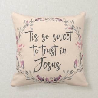 Christian Hymn Lyric Throw Pillow