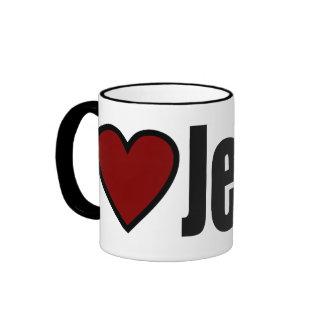 Christian I Love Jesus Custom Gift Ringer Mug