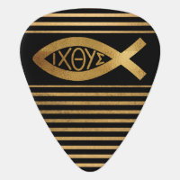Christian Ichthus Fish Symbol Faith Contemporary Guitar Pick