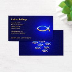 Christian   Ichtus Symbol Business Card at Zazzle