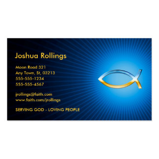 Christian | Ichtus Symbol Double-Sided Standard Business Cards (Pack Of 100)
