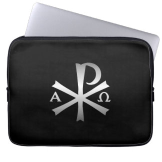 Christian Icon Alpha and Omega Labarum Computer Sleeve