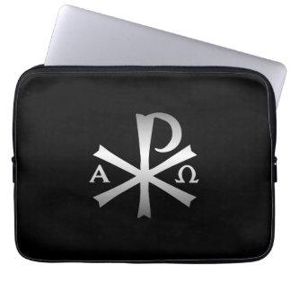 Christian Icon Alpha and Omega Labarum Laptop Sleeve