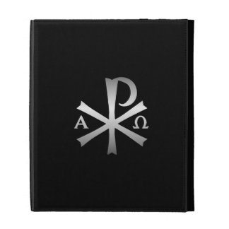 Christian Icon Alpha and Omega Labarum Orthodox iPad Folio Covers