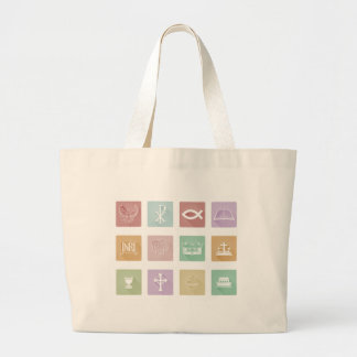Christian Icon Series Set Large Tote Bag
