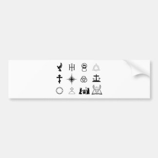Christian icons bumper sticker