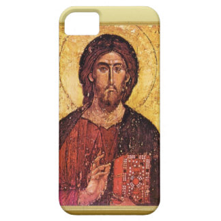 Christian Ikon of Christ with a gospel book, iPhone SE/5/5s Case
