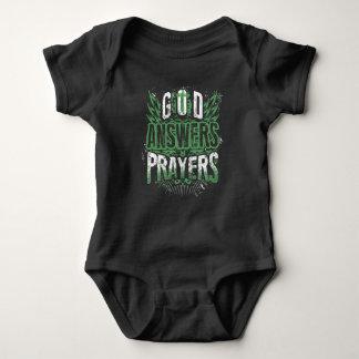 Christian Infant Shirt: God Answers Prayers Baby Bodysuit