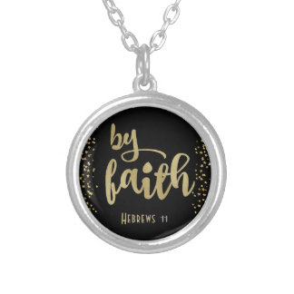 Christian Inspiration: By Faith Silver Plated Necklace