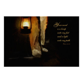 Christian Inspiration Poster - lamp unto my feet