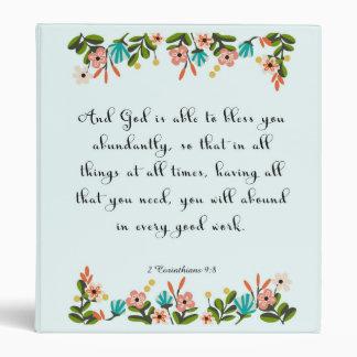 Christian inspirational Art - 2 Corinthians 9:8 Binder