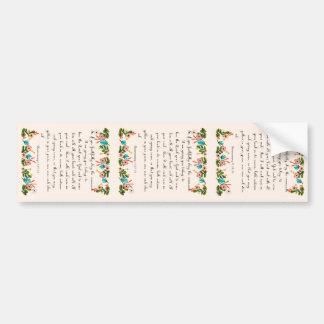 Christian inspirational Art - Deuteronomy 11:13-14 Bumper Sticker
