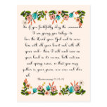 Christian inspirational Art - Deuteronomy 11:13-14 Postcards