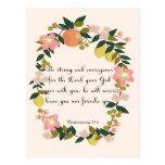 Christian inspirational Art - Deuteronomy 31:6 Postcards