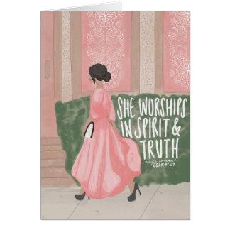 Christian Inspirational Art for Teen Girls - Bible Card