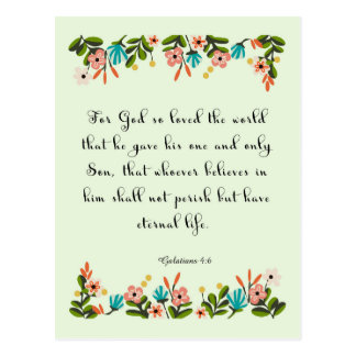 Christian inspirational Art - Galatians 4:6 Postcard