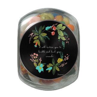 Christian inspirational Art - Jeremiah 30:17 Glass Candy Jars