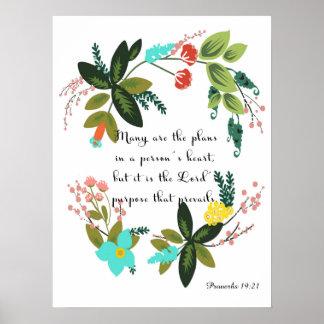 Christian inspirational Art - Proverbs 19:21 Poster