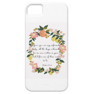 Christian inspirational Art - Psalm 139:16 iPhone SE/5/5s Case