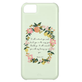 Christian inspirational Art - Psalm 32:8 iPhone 5C Cover