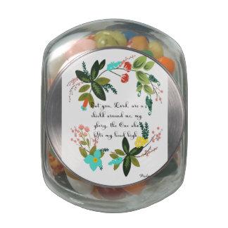 Christian inspirational Art - Psalm 3:3 Jelly Belly Candy Jar