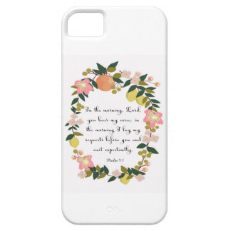 Christian inspirational Art - Psalm 5:3 iPhone SE/5/5s Case