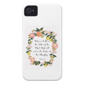 Christian inspirational Art - Psalm 91:1 Case-Mate iPhone 4 Case