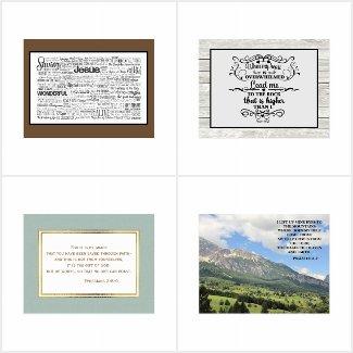 Christian / Inspirational / Bible Verse Postcards
