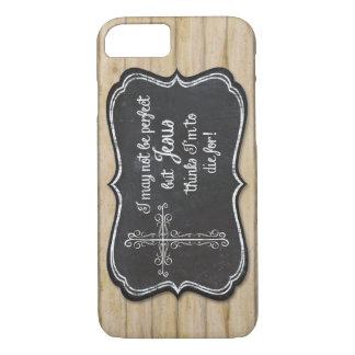 Christian Inspirational Jesus Cross Chalkboard iPhone 8/7 Case