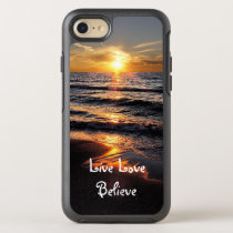 Christian Inspirational Message Beach Sunset OtterBox Symmetry iPhone 8/7 Case