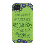 Christian iPhone 4 case (tough): To Live is Christ