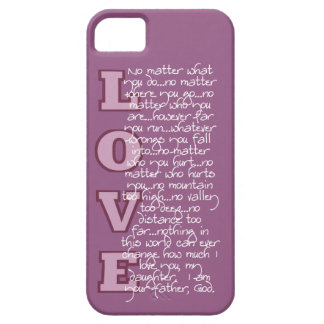 Christian iPhone 5/5s case: The Father's Love iPhone SE/5/5s Case