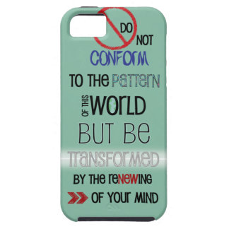 Christian iPhone 5 case: Do Not Be Conformed iPhone SE/5/5s Case