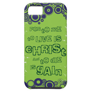 Christian iPhone 5 case (tough): To Live is Christ