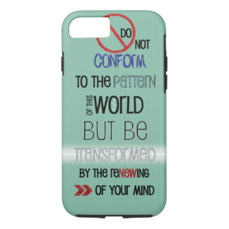 Christian iPhone 7 case: Do Not Be Conformed iPhone 7 Case