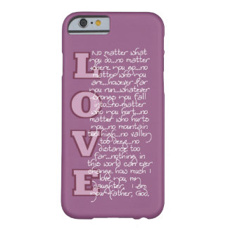 Christian iPhone case: Love letter from God Barely There iPhone 6 Case