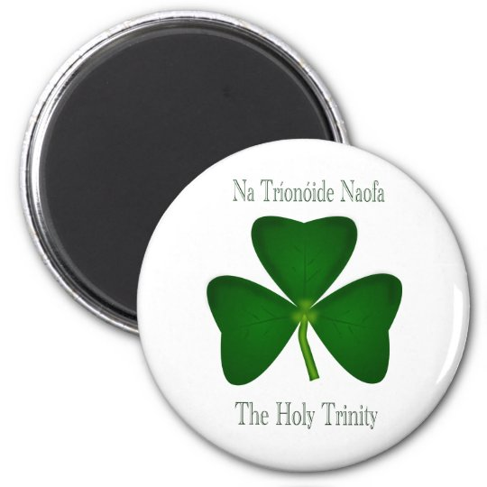 Christian Irish Clover Magnet