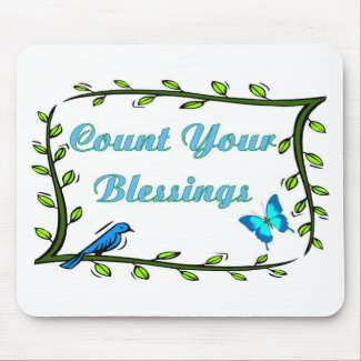 Christian items about blessings mousepad